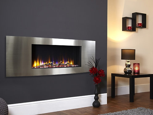 Celsi Ultiflame VR Vichy - Inset Electric Fire Silver