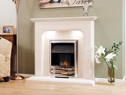 The Birre Limestone Fireplace 48 Inch