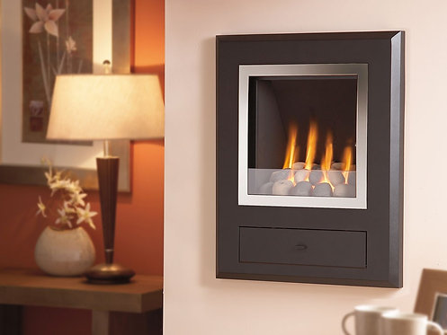 Flavel Finesse Gas Fire Chrome & Pebbles
