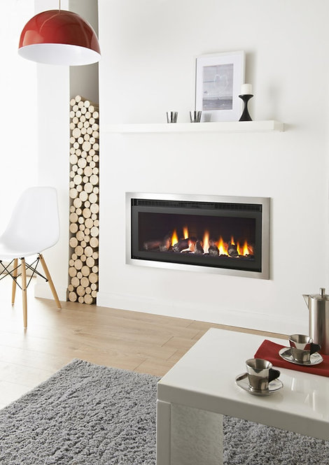 Panoramic Glass Fronted HE Gas Fire 5.1Kw