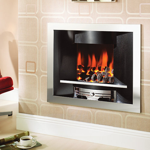 Crystal Fires Emerald Open Fronted Hole-in-the-Wall Gas Fire