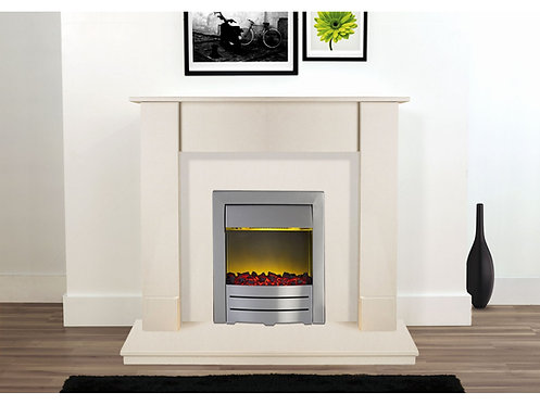 The Rio Fireplace in Beige Stone, 48 Inch
