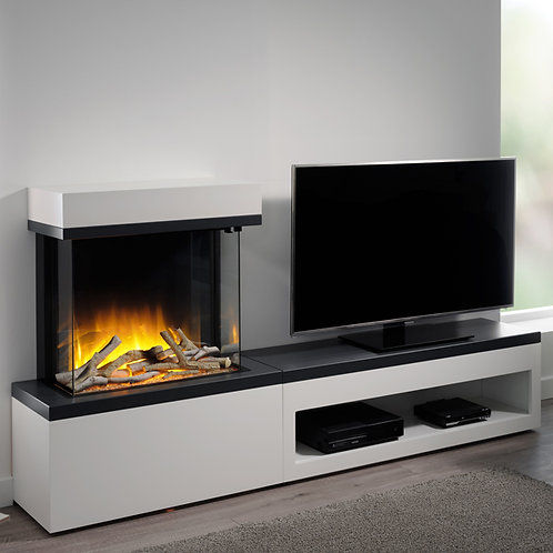 Flamerite Glazer 600 3-Sided Electric Fire with Tropo Suite