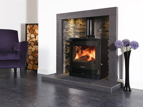 Portway 2 Curved Glass Multifuel Stove