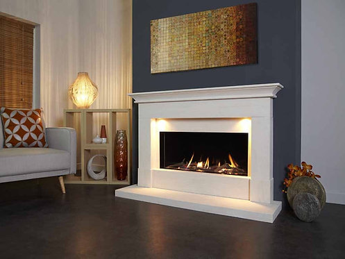 Parada Elite Illumia Limestone Fireplace 58L Gas Fire CF