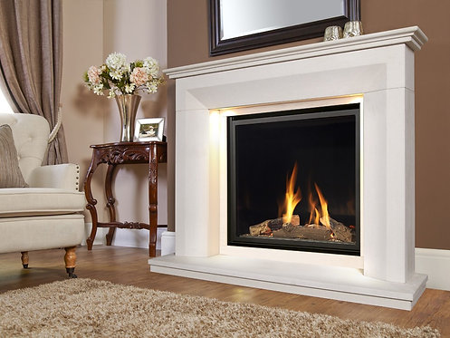 Monet Illumia FD Limestone Fireplace Gas Suite CF