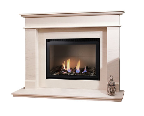Newton Limestone Surround with High Efficiency gas fire