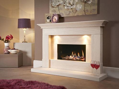 Parada Illumia Limestone Fireplace 54S Gas Fire Suite CF