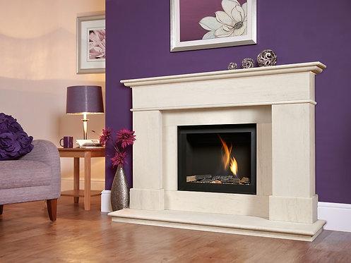 Botticlelli Celena Slimeline Limestone Fireplace BF Suite