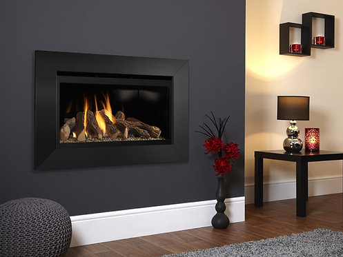 Flavel Rocco HE Gas Fire Black Trim