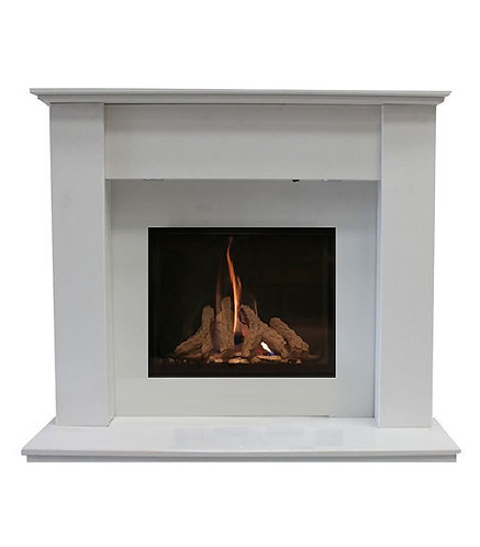Bilbao 48 inch Marble Fireplace Suite