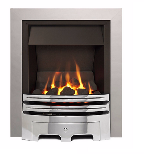ECO 2 OPEN FRONTED CHROME EFFECT INSET GAS FIRE