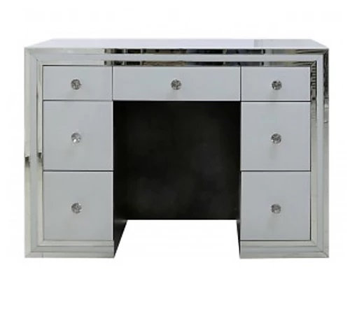 White Boston 7 Drawer Dressing Table Set