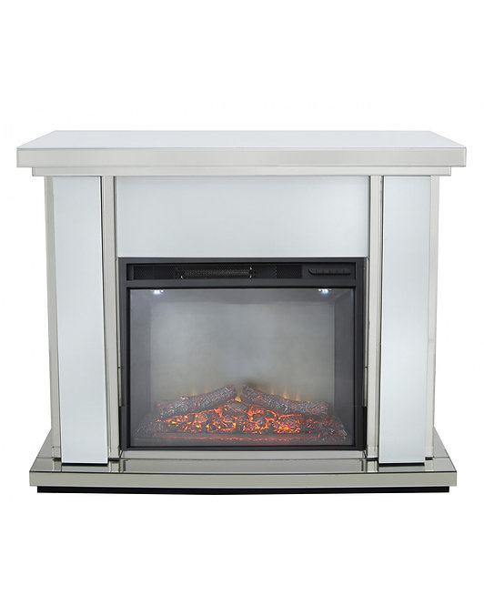 White Boston Electric Fire Surround