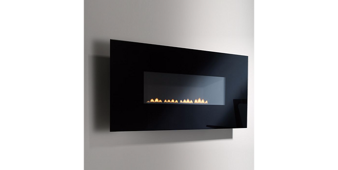 Focal Point Midnight Black Wall Hung Gas Fire