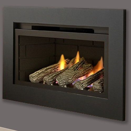 Crystal Fires Boston Glass Fronted Gas Fire