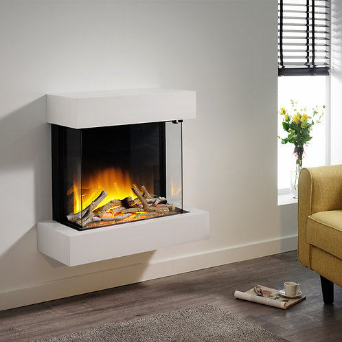 Flamerite Glazer 600 3-Sided Electric Fire with Iona Suite