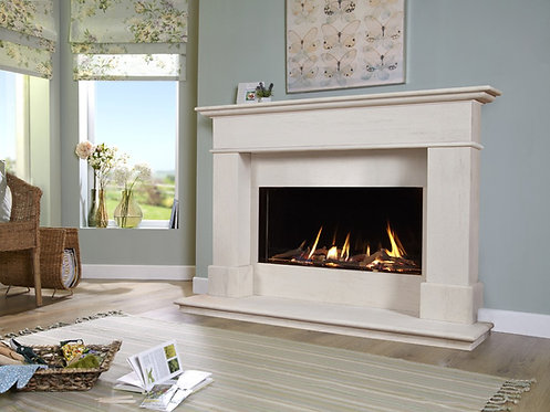 Avignon Eden 54 Elite Limestone Fireplace Suite CF