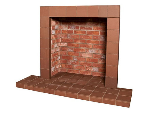 Rustic Brick Chamber with Large Hearth