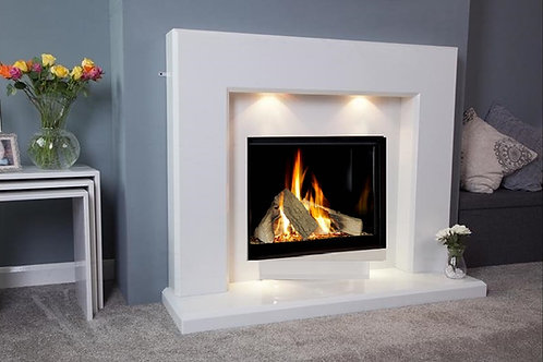 Midland 48 inch Marble Fireplace Suite