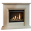 Senso Eco View High Efficiency Gas Fire Suite in Limestone