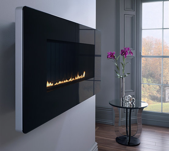 Scandium Black Manual Control Wall Hung Gas Fire