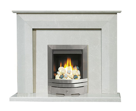 The Lenon Fireplace in Sparkly White, 54 Inch