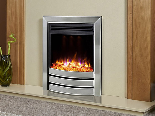 Celsi Electriflame XD Signature Inset Electric Fire Satin Silver & Chrome