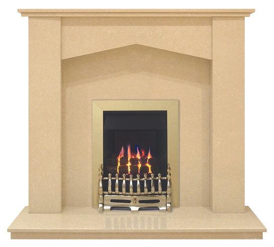Tara Fireplace in Beige Marfil, 48 Inch