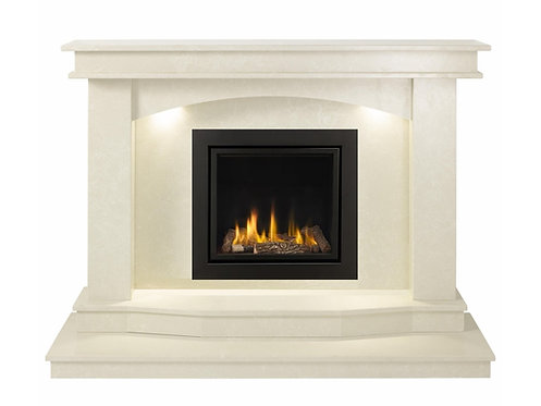 Turin Marble Fireplace with 4.2KW Large Glass Fire