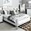 White Boston King Size Bed Frame