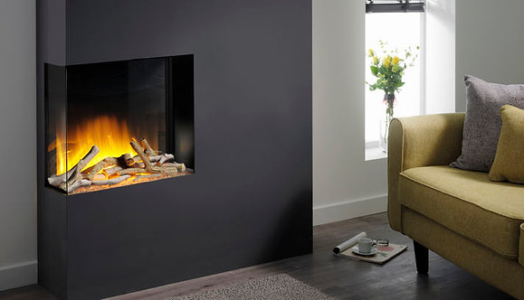 Flamerite Glazer 600 2-Sided Inset Electric Fire