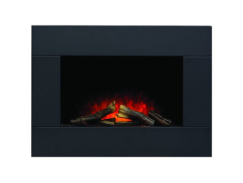 Carina Electric Wall Mounted Fire with Remote Control in Black, 32 Inch