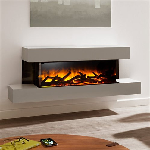 Flamerite Glazer 900 3-Sided Electric Fire with Iona Suite