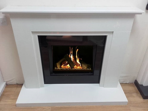 Louis Marble Suite with Celene HE Gas Fire