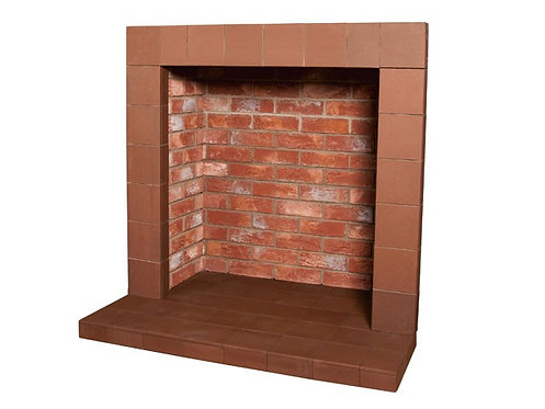 Rustic Brick Chamber with Small Hearth