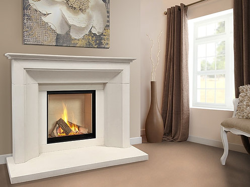 The Collection by Michael Miller Asencio Limestone Fireplace Suite CF