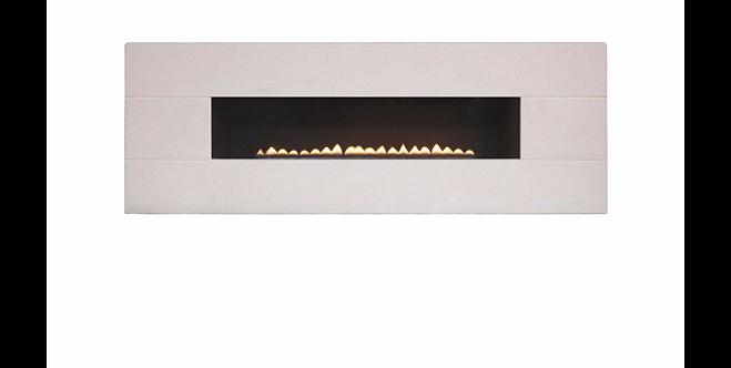 Vesuvius Limestone M/Control Flueless Gas Fire