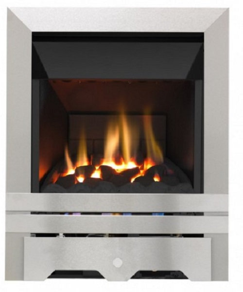 4010 HIGH EFFICIENCY GAS FIRE 4.0 kw output CMT10 CHROME