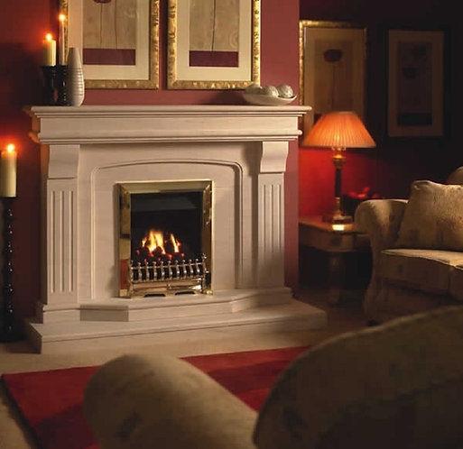 Benson Limestone Fireplace
