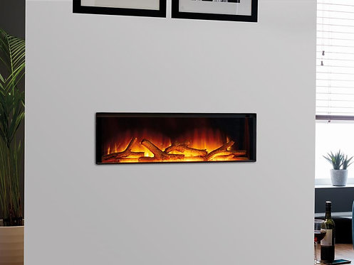 Gotham 900 Frameless hole in the wall Electric Fireplace
