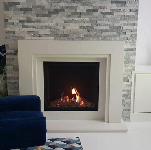 Kinza Marble Fireplace suite with Sophia Gas Fire