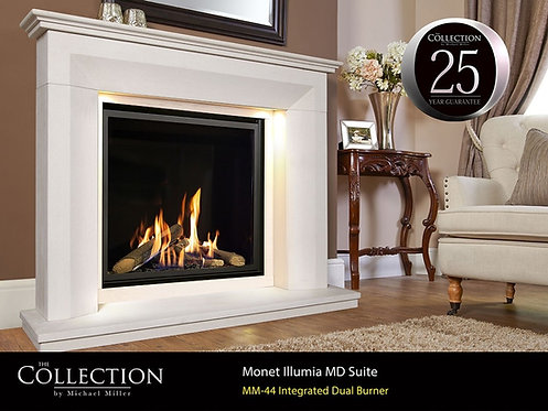 Monet MD Illumia Limestone Fireplace Suite CF