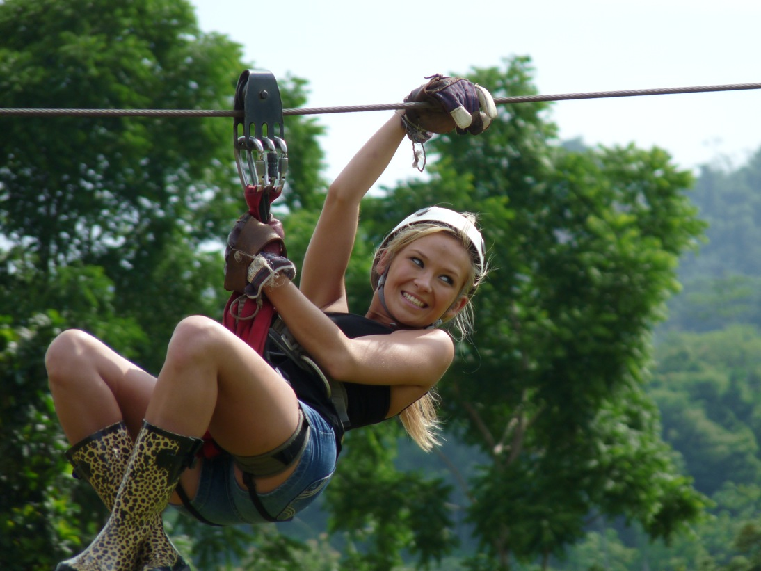 Zip Line with the Girls
