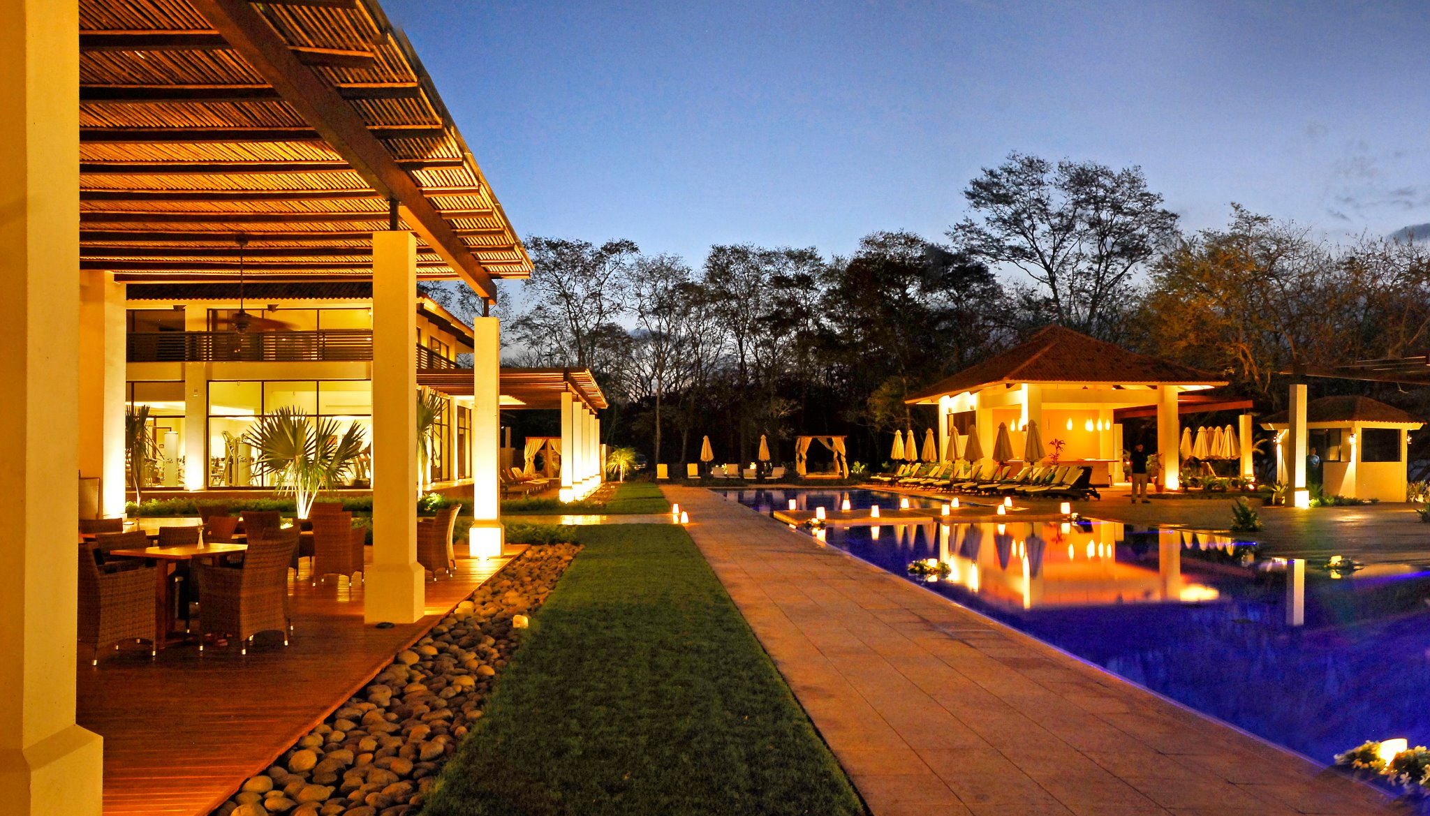 Reserva Conchal Beach Club at Dusk