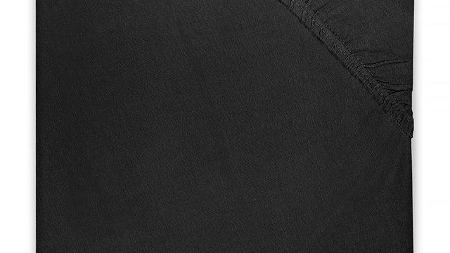 Drap-housse en jersey matelas de parc 75 x95cm noir