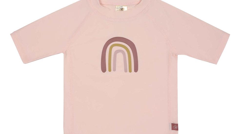 T-shirt Anti-UV Manches Courtes, Arc-en-ciel Rose - taille 36 mois ( 98cm)