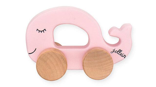 Jouet voiture en bois Sea animal pink