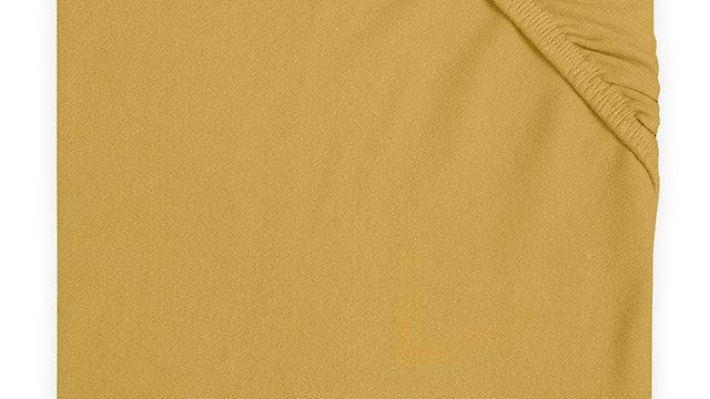 Drap-housse jersey 60x120cm moutard
