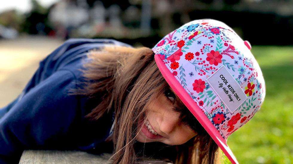 casquette avec imprimé 9-24 mois (48cm) - fleur rose-